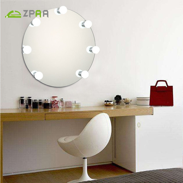 Zpaa 2018 New Dressing Light Makeup Mirror Light Hollywood Vanity