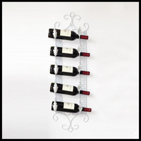 European wine rack wall hanging wrought iron wine bottle holder decoration wine display stand living room bar table decoration