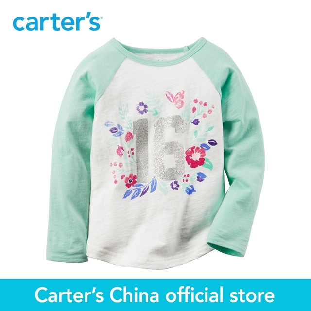 ac4306ec9aeb0 Carter's 1pcs baby children kids Floral Raglan Tee 235G471 ,sold by Carter's  China official store