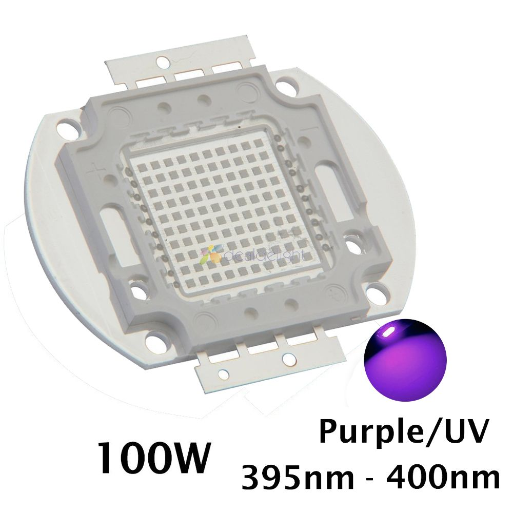 100W High Power UV Ultra Violet Light Chip EPILEDs 42Mil, 365nm-370NM,380nm-385nm,395nm-400nm,420nm-425nm LED Light Source 10w 12w ultra violet uv 365nm 380nm 395nm high power led emitting diode on 20mm cooper star pcb