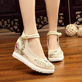 2017 New Women Flower Flats Slip On Cotton Fabric Casual Shoes anckel strip Comfortable Round Toe Student Flat Shoes Woman