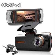 Big sale OBDTOOL 2.7″ Car DVR Dual Lens with Rear View Camera Night Vision Dvrs 1080P