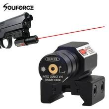 США красный точечный лазерный прицел для Пикатинни и винтовки с 635-655nm регулируемый 11 мм/20 мм Пикатинни/ткач крепление