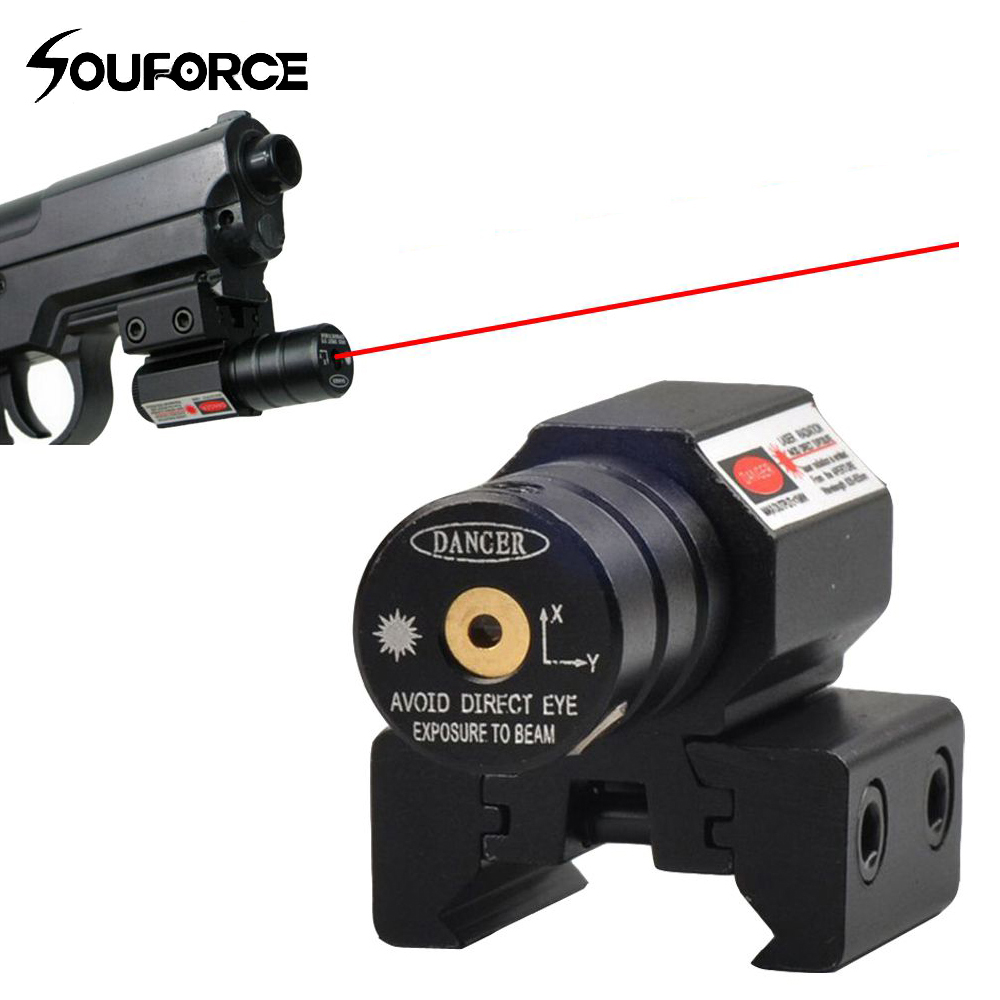US Red Dot Laser Sight For Picatinny And Rifle With 635-655nm Adjustable 11mm/20mm Picatinny/Weaver Mount Free Shipping