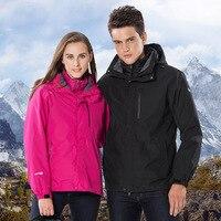 Стильный и простой открытый двух частей мужские и женские куртки три в одном пуховая куртка пользовательские команда Одежда для холодной з