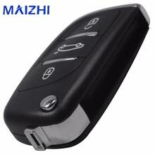 Maizhi дистанционного складной Флип Ключи В виде ракушки чехол 3 Кнопка для Audi A6 для VW для Паша te для Бора для skoda для сиденья без лезвия