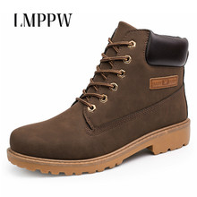 Купить с кэшбэком New 2018 Men Shoes Men Martin Boots,rubber Sole Outdoor Casual Snow Boots,High Quality Winter Warm Leather Ankle Boots  2A