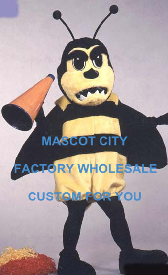 Жужжание борьба Hornet Маскоты костюм с Рог взрослых Размеры Маскоты te Маскоты наряд костюм Хеллоуин маскарадный костюм sw543