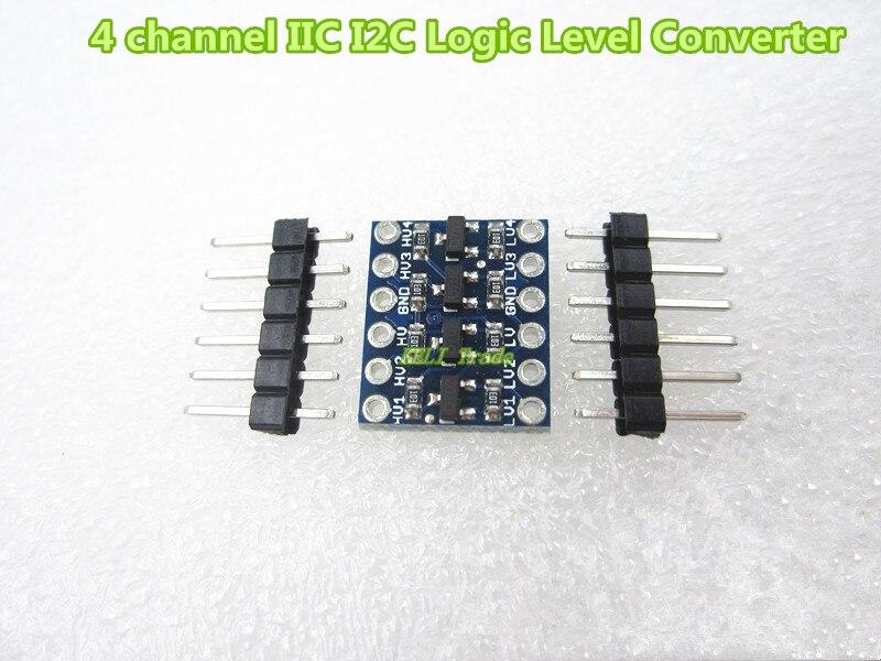 4 channel IIC I2C Logic Level Converter Bi-Directional Module 5V to 3.3V 8 channel 8 bit logic level bi directional converter module txb0108 for arduino
