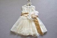 女の子のレースドレスベビーキッズ夏の結婚式/パーティーチュール服100ES505DS38 [イレブンストーリー]