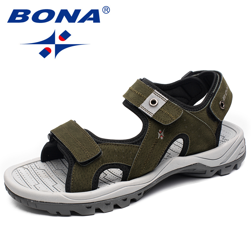 BONA New Arrival Typical Style Men Sandals Beach Zapatos Male Slippers Anti-Slippery Men Summer Shoes Soft Fast Free Shipping