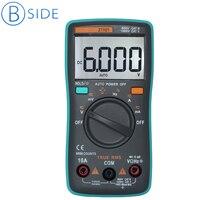 BSIDE Тип RMS цифровой мультиметр ZT101 Универсальный AC/DC Напряжение Ток Сопротивление измеритель емкости и частоты