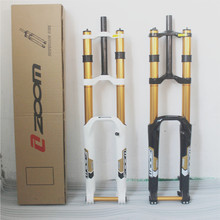 цена на Taiwan ZOOM DH680 1 1/8  Downhill Bike Fork 26  bicycle Suspension Fork 20 mm Thru For DH Bike Front Fork Bike Accessory