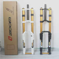 Taiwan ZOOM DH680 1 1/8 Downhill Bike Fork 26 bicycle Suspension Fork 20 mm Thru For DH Bike Front Fork Bike Accessory
