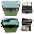 3 Camadas ABS Assento Plástico Caixa de Equipamento De Pesca Caixa de Pesca Cadeira De Pesca Multifuncional Ferramenta