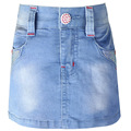 Girls blue denim A-Line skirt children Letter pattern Rhinestones pants kids girls flexible waistband jeans style clothes LL585