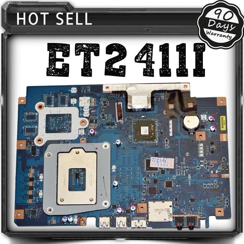 ET2411I For ASUS QCA71 LA-7521P motherboard AIO PC mainboard REV1.0 100% tested free shipping brand new pbl80 la 7441p rev 2 0 mainboard for asus k93sv x93sv x93s laptop motherboard with nvidia gt540m n12p gs a1 video card