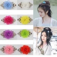 1Pcs Fashion Women Flower Vintage Silver Hairpin Headdress Handmade Wedding jewelry Chinese Style Hair Clip Gift