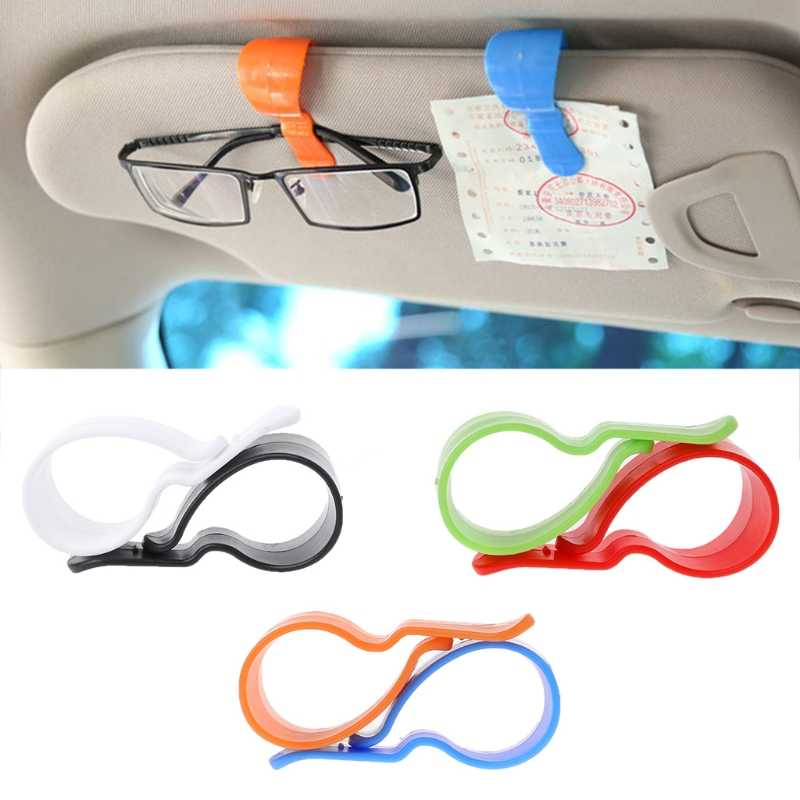 1Pair Auto Car Vehicle Visor Sunglasses Glasses Card Pen Holder Ticket Clips