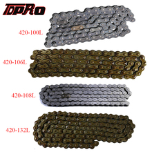 TDPRO 420 100/106/108/132 Links Motorcycle Drive Chain Link For CRF 50 70cc 90cc 110cc 125cc 140cc 150cc Pit Dirt Quad ATV Bike