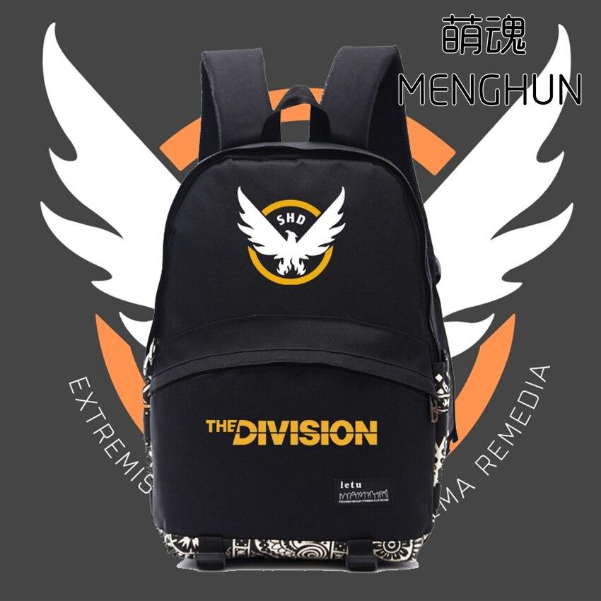 Tom Clancy's The Division backpack black game fans backpack TV game fans concept men's black backpack The Division bag nb176 цены онлайн
