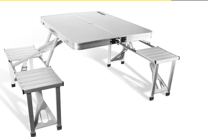 Incredible Aluminium Folding Portable Picnic Outdoor Camping Set Table Download Free Architecture Designs Scobabritishbridgeorg
