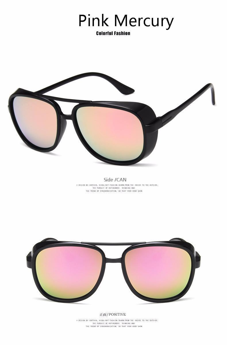 bbf0dba29e 2018 New Brand Retro Round Sunglasses Mirror Men Polarized Vintage ...