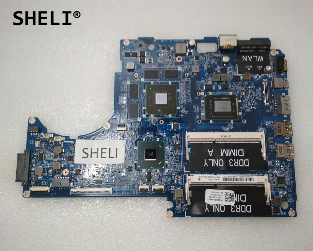 SHELI For Dell 15z L511z Motherboard with I7-2640M DASS8BMBAE1 CN-00CJ88 00CJ88 0CJ88SHELI For Dell 15z L511z Motherboard with I7-2640M DASS8BMBAE1 CN-00CJ88 00CJ88 0CJ88