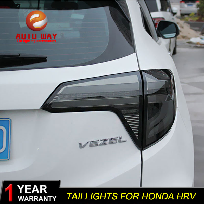Car Styling case for Honda HRV HR-V 2015 2016 taillights TAIL Lights LED Tail Light LED Rear Lamp Certa taillight free shipping for vland car tail lamp for civic led taillight 2016 2017 with spoiler light all led design