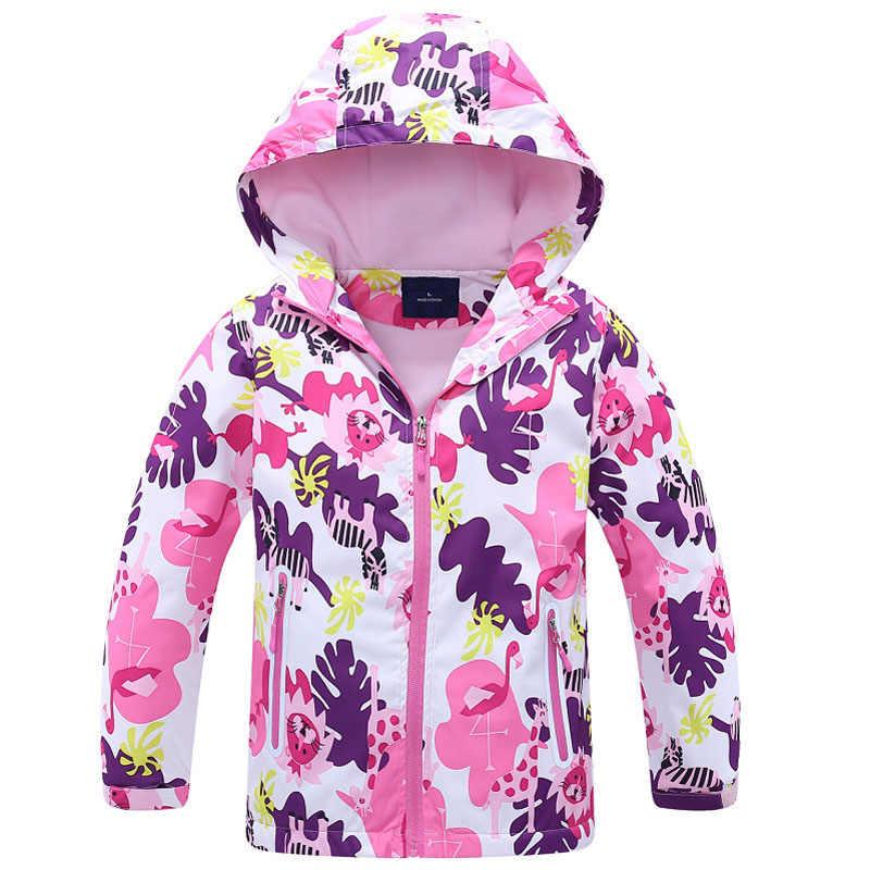 מעיל רוח בנות מעיל עבור ילד ברדס 2019 אביב פרח פליס בנות הלבשה עליונה מעיל 3-12 T ילדים מעילים