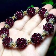 Натуральный гранатовый браслет для женщин, ручная работа, 3 мм, браслеты с шариками, ювелирный подарок для женщин, браслет, браслеты