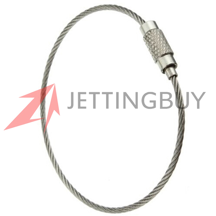 EDC Wire Rope Key Ring 10pcs 15cm Outdoor Camping Multifunctional Stainless Steel Wire Chain pendant Loop