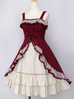Sweet Lolita fantasic dolly JSK vintage Japanese style cute printed lovely princess Halloween Costume