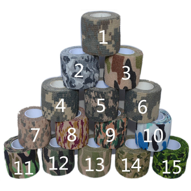Waterproof Tape Sport Outdoor Tactical Hunting Fabric Camouflage Self-adhesive Medical Adhesive Elastic Bandage First Aid KitWaterproof Tape Sport Outdoor Tactical Hunting Fabric Camouflage Self-adhesive Medical Adhesive Elastic Bandage First Aid Kit
