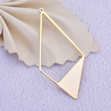 (202) 6PCS 28x57MM 24K Gold Color Brass Hollow  Pendants Charms High Quality Diy Jewelry Findings Accessories