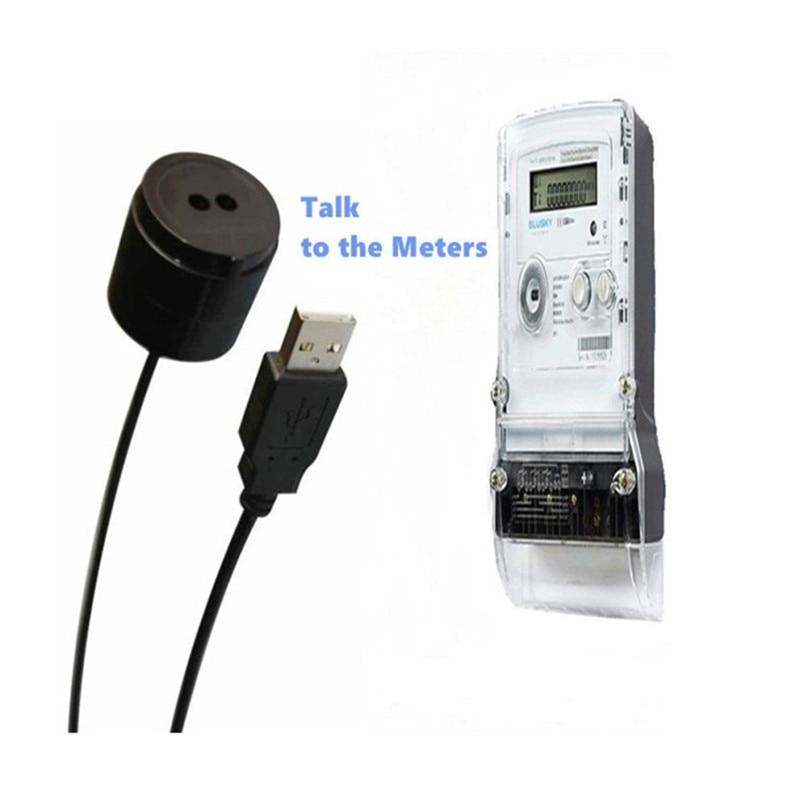 (10pcs/lot) RJ-OPUSB-IEC Smart Meter Optical Probe Sensor For All IEC Meters USB Optical Reading IEC62056-21 (IEC1107) Standard