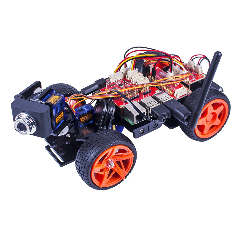 SunFounder Kit di Robot Di Controllo Remoto Per Raspberry Pi 3 Smart Video Car Kit V2.0 RC Robot App Controlled Giocattoli (RPi Non incluso)