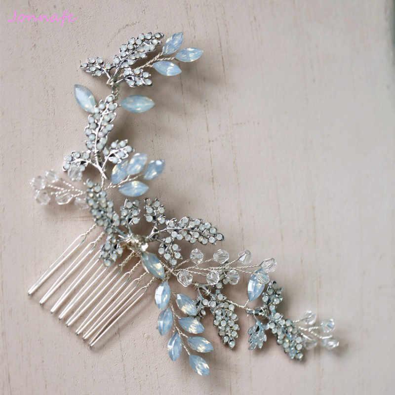 57a8e4593dfd Jonnafe гребень для волос с кристаллами невесты головной убор модные  свадебные ...