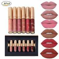 6 teile/satz Make-Up Matte Lippenstift Lip Kit Gloss Langlebige Lip Stick Kosmetik mini set brithday edition kyshadow