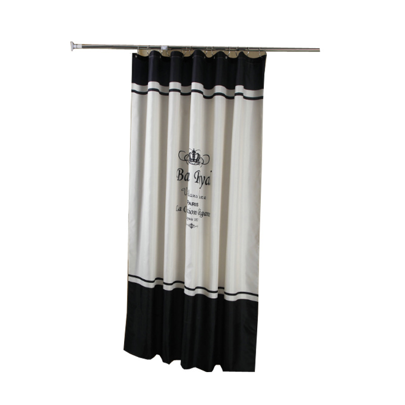 Bathroom Curtain Waterproof Cloth Set  Curtain Thickened Mildew  Hanging Curtain No Puncture Bath Cut-off