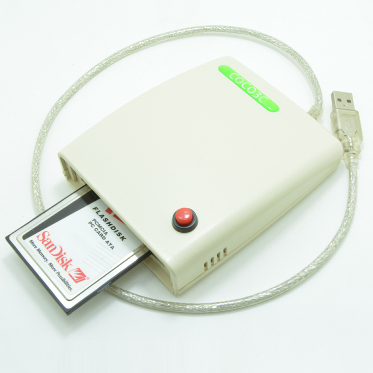Avec le commutateur et le boîtier ATA PCMCIA Lecteur de Carte Mémoire 68PIN CardBus À USB 2.0 Adaptateur