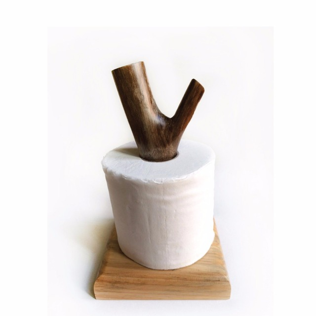 Madera creativa tejido madera original rollo Soportes para papel ...
