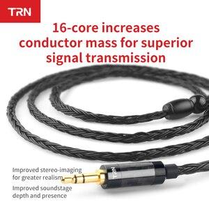 Image 2 - 새로운 3.5/2.5/4.4mm 밸런스드 케이블 16 코어 실버 도금 hifi 업그레이드 케이블 kz as10 zs10 zst cca c10 c16 용 mcx/2pin 커넥터