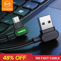MCDODO 3m 2.4A Fast Micro USB Cable Charger Data Microusb Charging Cable For Samsung Huawei Andriod Mobile Phone Cables Cord