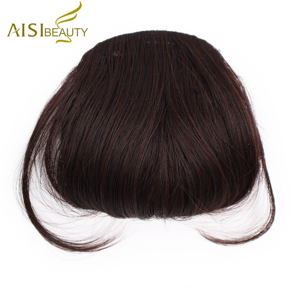 Aisi SchÖnheit Synthetische Bang 12 Farben Natürliche Braun Blond Schwarz Gefälschte Fringe Clip In Pony Lange Haar Extensions