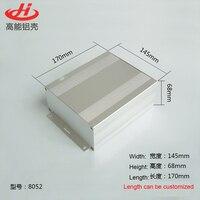 1 pedaço de alumínio caso da habitação para projeto eletrônico caso 68 (H) x145 (W) x170 (L) mm 8052
