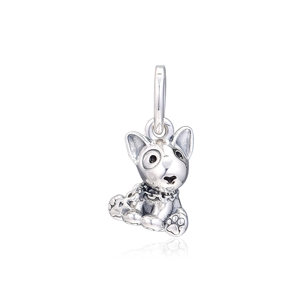 CKK Silver 925 Jewelry Bull Terrier Puppy Dangle Charm Mothers Day Beads Fits Original Bracelets Sterling Silver MakingCKK Silver 925 Jewelry Bull Terrier Puppy Dangle Charm Mothers Day Beads Fits Original Bracelets Sterling Silver Making