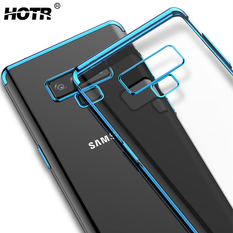 Note 9 TPU Case for Samsung Galaxy Note 9/8/5/4/3 Soft Rubber Plating Clear Back Case for Samsung s8 s9 plus s7 edge s6 s5 s4 s3