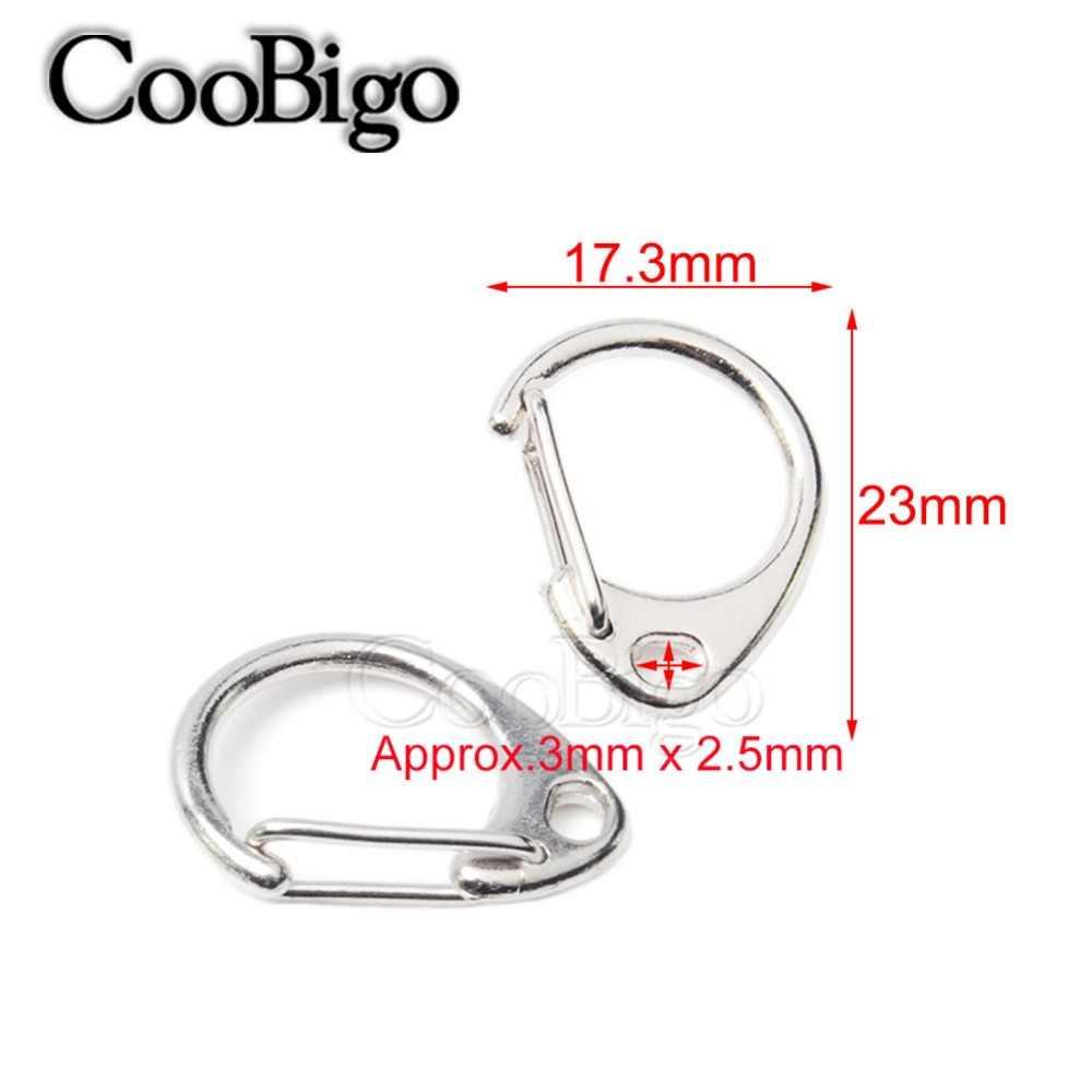 """5 sztuk okrągłe zatrzaski Lobster Snap hak 0.9 """"długość metalowy brelok do kluczy pierścień torba części Paracord pasy nóż smycz Zestawy podróżne"""