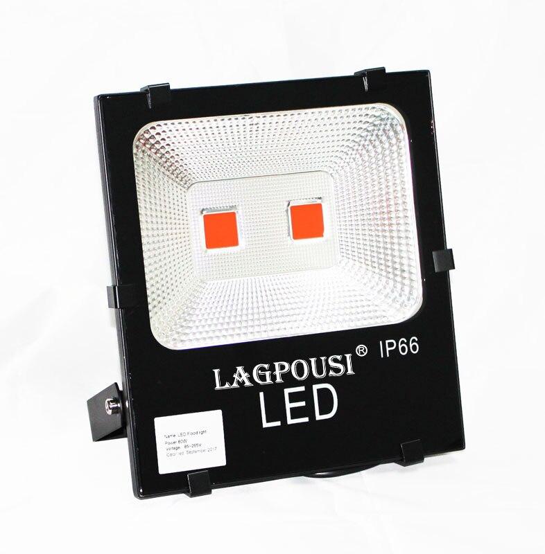 lagpousi 100W LED Flood Light Outdoor, IP66 Waterproof Lighting LED Spotlight,  9000LM, Red(605~680nm) Wall Light ultrathin led flood light 200w ac85 265v waterproof ip65 floodlight spotlight outdoor lighting free shipping